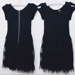 Ella Moss girls black dress Translucent Overlay10